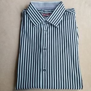Robert Graham 17 L/XL Striped Button Down Shirt